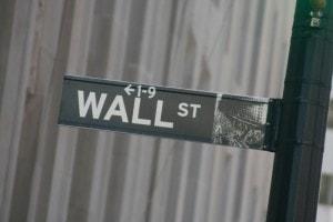 panneau de rue Wall Street